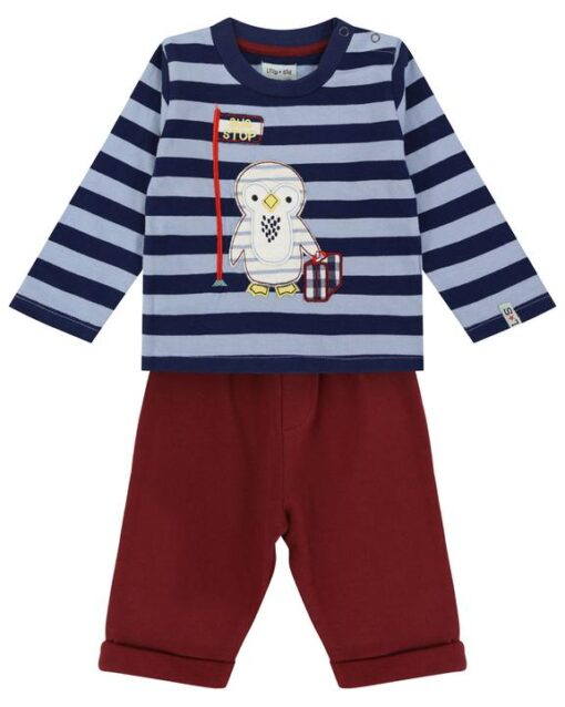 Penguin Sweatshirt and Corduroy Pant Outfit Set from Lilly & Sid