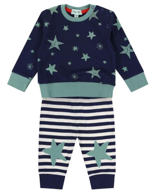 Star Print Cotton Outfit Set for Boys or Girls from Lilly & Sid