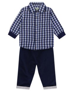 Woven Check Reversible Boys Outfit Lilly & Sid