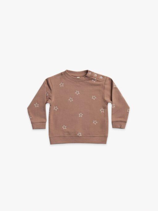 Quincy Mae Clay Sweatshirt with Stars