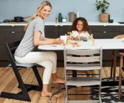 The Tripp Trapp High Chair Grows with your children and make great dinner chairs as well