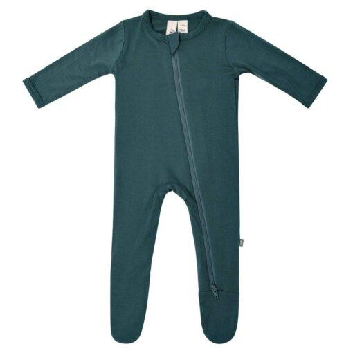 Kyte BABY Zippered Footie in Emerald