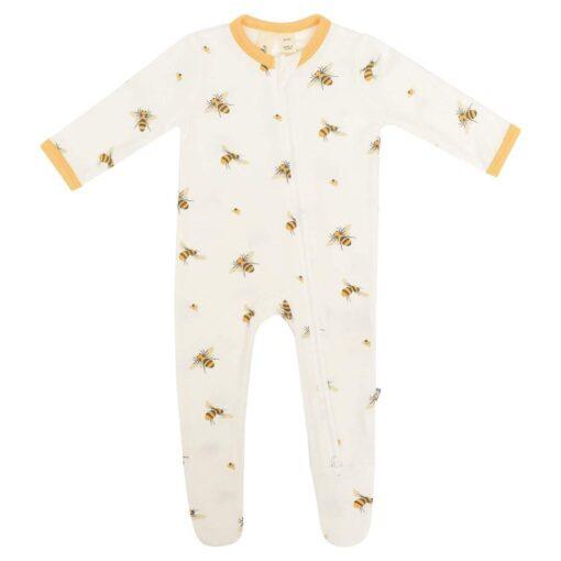 Kyte Baby Bamboo Zippered Footie Sleeper in Buzz