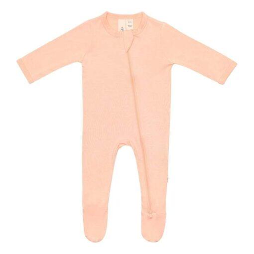 Kyte Baby Zippered Footie in Papaya