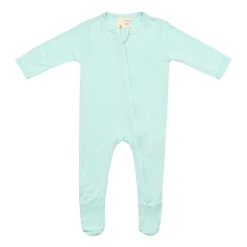 Kyte Baby Zippered Footie in Sea Mist