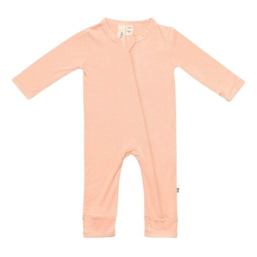 Kyte Baby Zippered Romper in Papaya