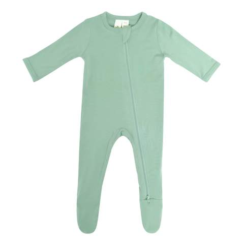 Kyte Baby Zippered Footie in Matcha