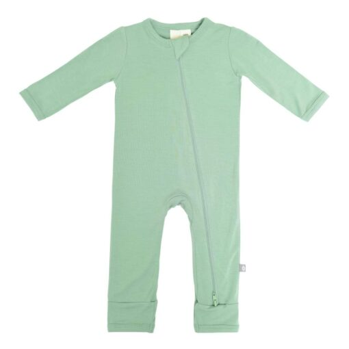 Kyte Baby Zippered Romper in Matcha