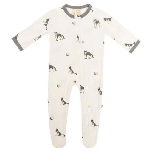 Kyte Baby Zippered Footie in Howl