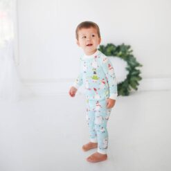 Little Sleepies Snowman Bamboo Two-Piece Pajama Set