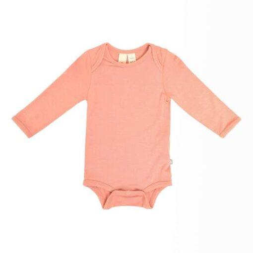 Kyte Baby Long Sleeve Bodysuit in Terracotta