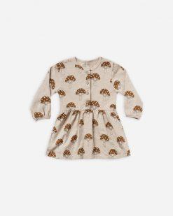 Rylee+Cru Button Up Jersey Mushroom Dress AW21