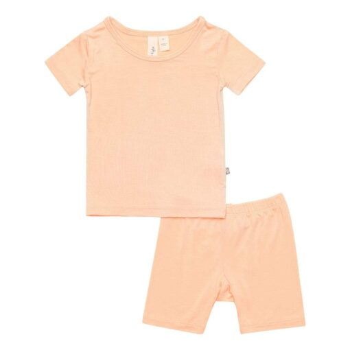 Kyte Baby Short Sleeve Pajama Set in Papaya