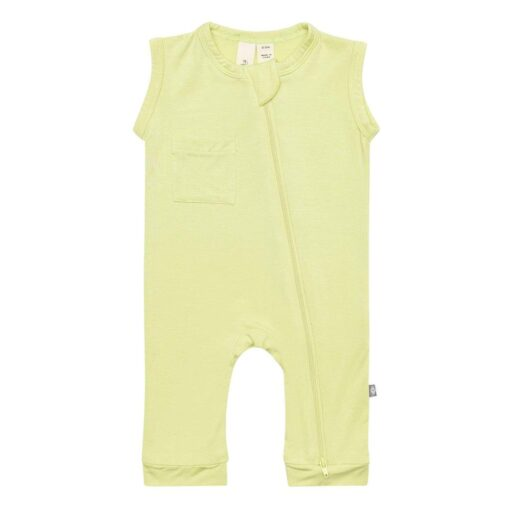 Kyte Baby Zippered Sleeveless Romper in Kiwi