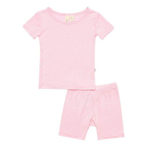 Kyte Baby Short Sleeve Pajama Set in Peony