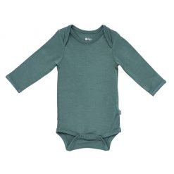 Kyte BABY Long Sleeve Bodysuit in Pine