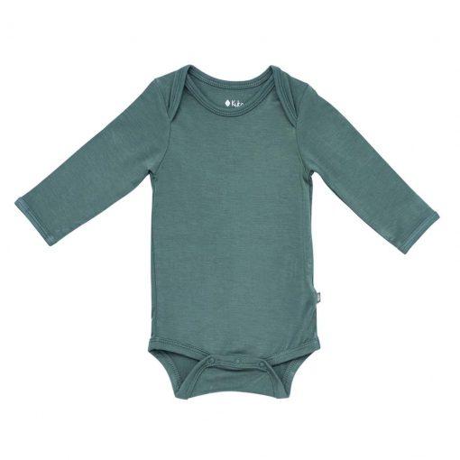 Kyte BABY Long Sleeve Bodysuit in Pine
