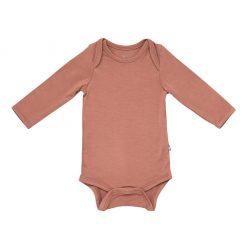 Kyte BABY Long Sleeve Bodysuit in Spice