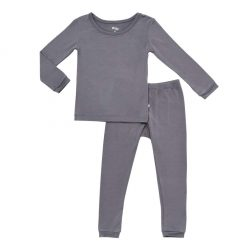 Kyte BABY Toddler Pajama Set in Charcoal
