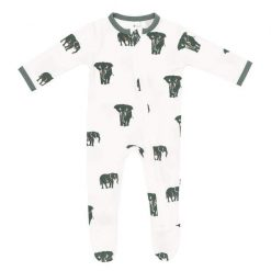 Kyte BABY Zippered Footie in Elephant