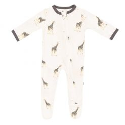 Kyte-BABY Zippered Footie in Giraffe