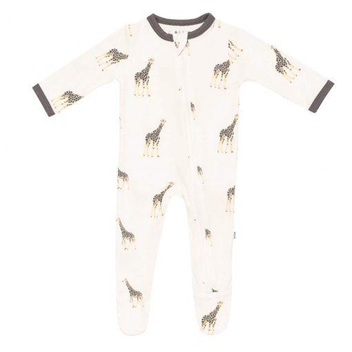 Kyte-BABY Zippered Footie in Giraffe