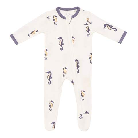 Kyte BABY Zippered Footie in Sea Horse
