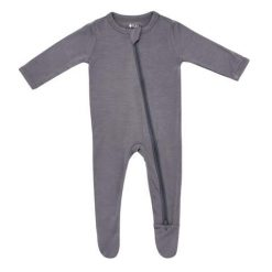 Kyte BABY Zippered Footie in Charcoal