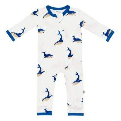 Kyte BABY Zippered Romper in Whale