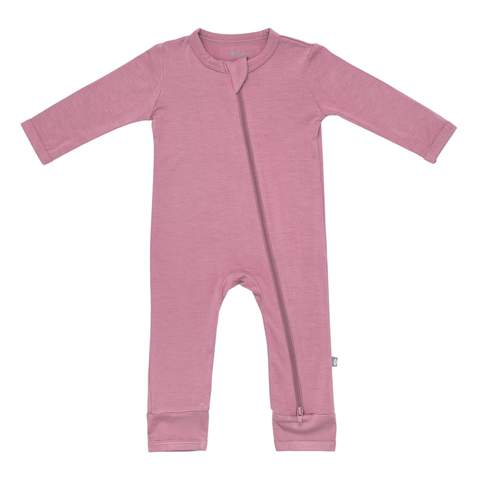 Kyte BABY Zippered Romper in Mulberry