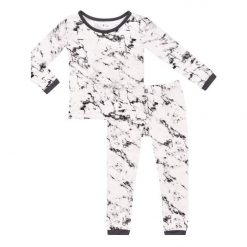 Kyte BABY Toddler Pajama Set in Charcoal Marble Limited Edition