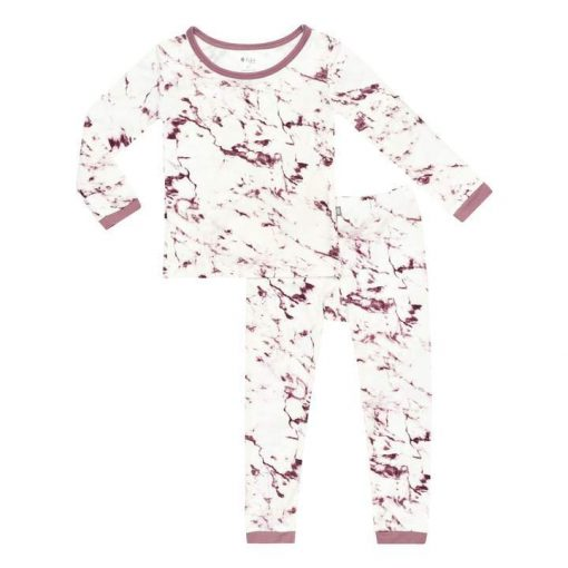 Kyte BABY Toddler Pajama Set in Mulberry Marble