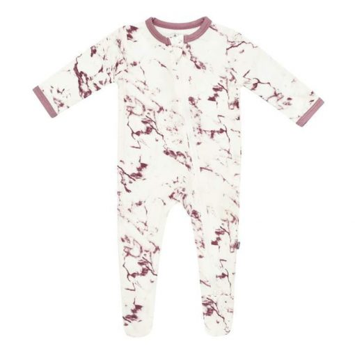 Kyte BABY Zippered Romper Mulberry Marble