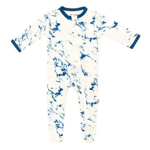 Kyte BABY Zippered Footie in Sapphire Marble