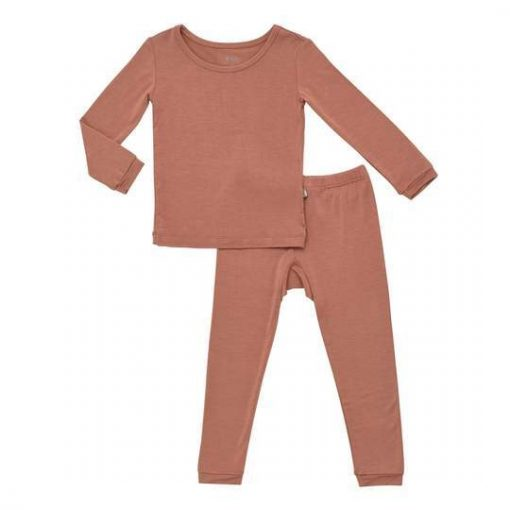 Kyte BABY Toddler Pajama Set in Spice