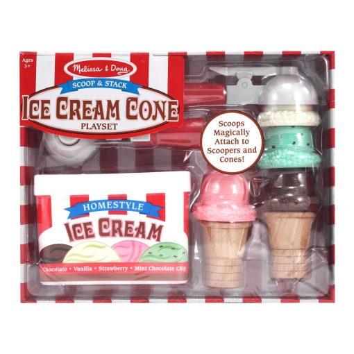 Melissa & Doug Scoop & Stack Ice Cream Cone Playset Packaging