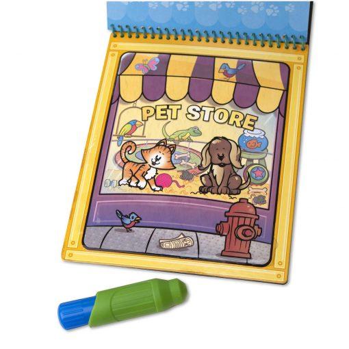 reusable animal coloring pad
