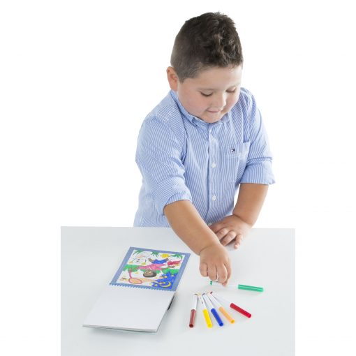 coloring sheet with markers