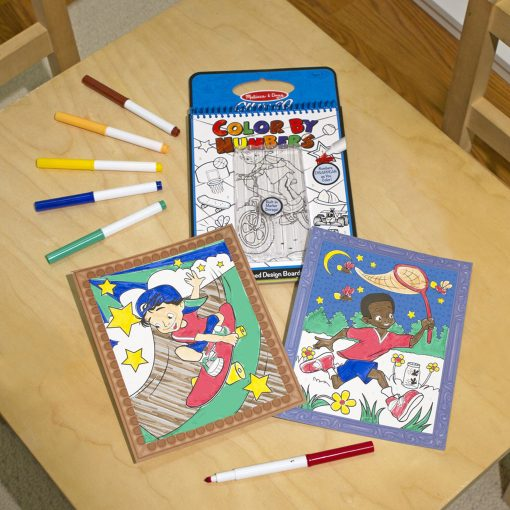 numerical coloring book