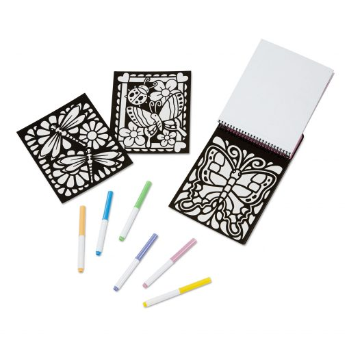 Butterfly coloring pad