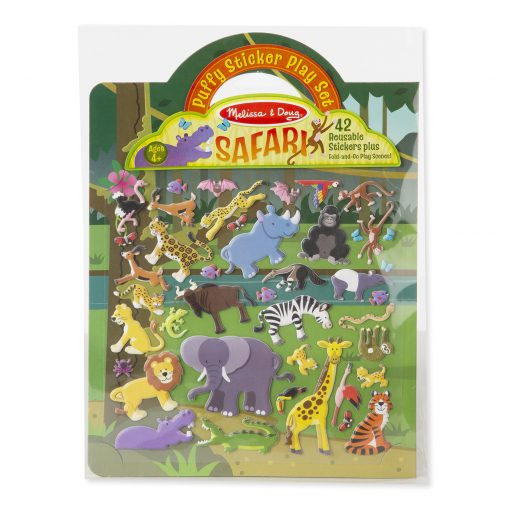 safari reusable puffy stickers