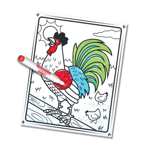 Visible ink coloring book