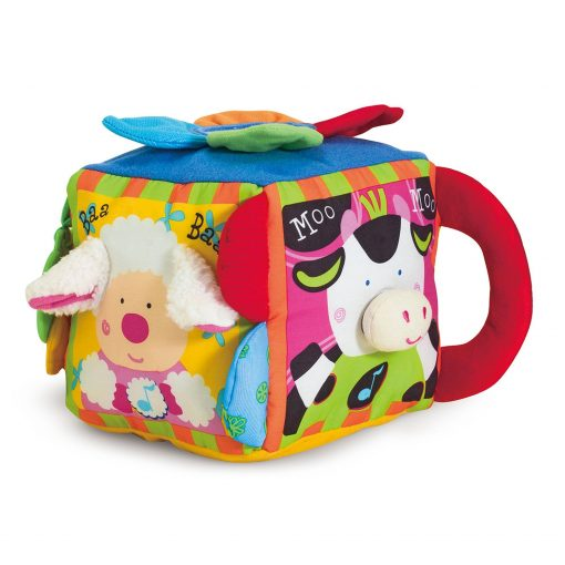 Musical farmyard cube toy for kids