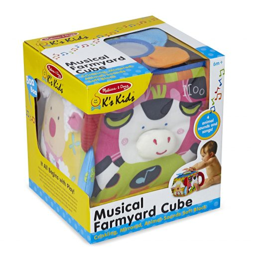 Melissa & Doug Musical Farmyard Cube Packaging
