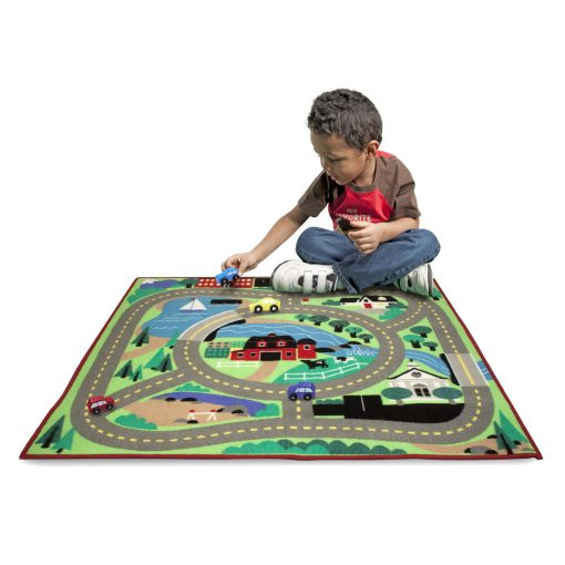 Round the town road and rug toy for kids