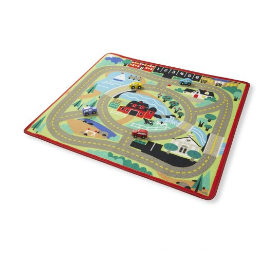 laid out road rug for kids
