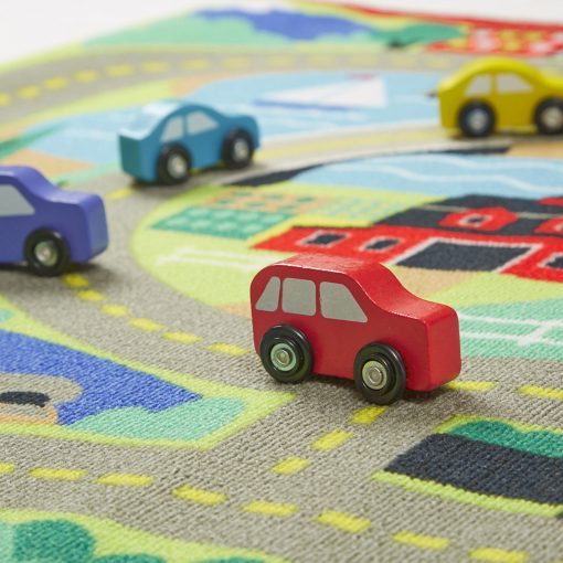 Toy cars for the kids play rug