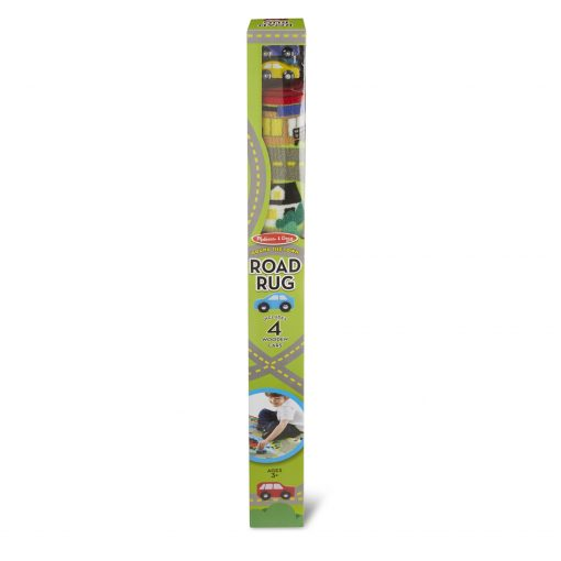 Melissa & Doug Round the Town Road Rug rolled up