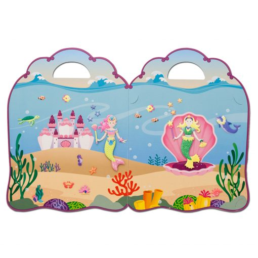 Reusable Mermaid sticker set backdrop