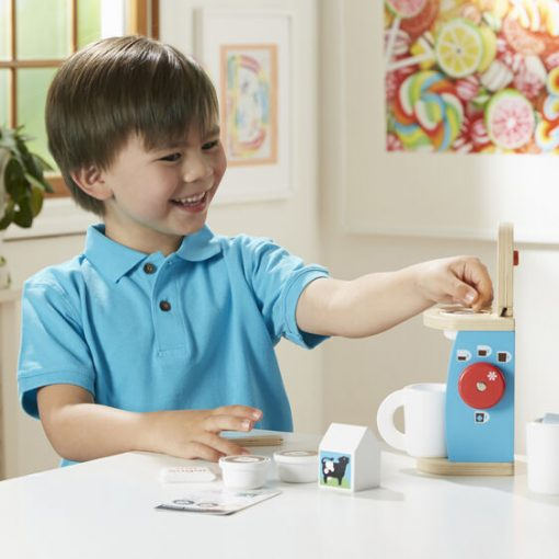 Wooden Coffee Maker Toy for Toddlers